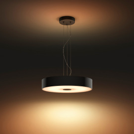 Philips Hue White Ambiance Fair Lampe Suspendue à LED noir, 3000lm, Interrupteur de Gradation