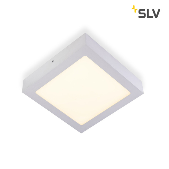 SLV SENSER LED PANEL square silver grey 14W