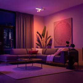 Philips Hue White & Color Ambiance Centris Cross LED-Deckenleuchte mit 3 Spots weiß, 2850lm