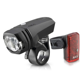 AXA Greenline 50 LED bike light set