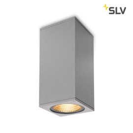 SLV Big Theo Flood Up/Down Outdoor LED-Wandleuchte grau