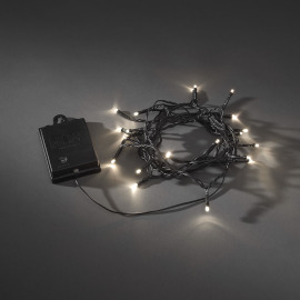 Konstsmide LED Chain of Lights with Timer, warmwhite, 20 LEDs