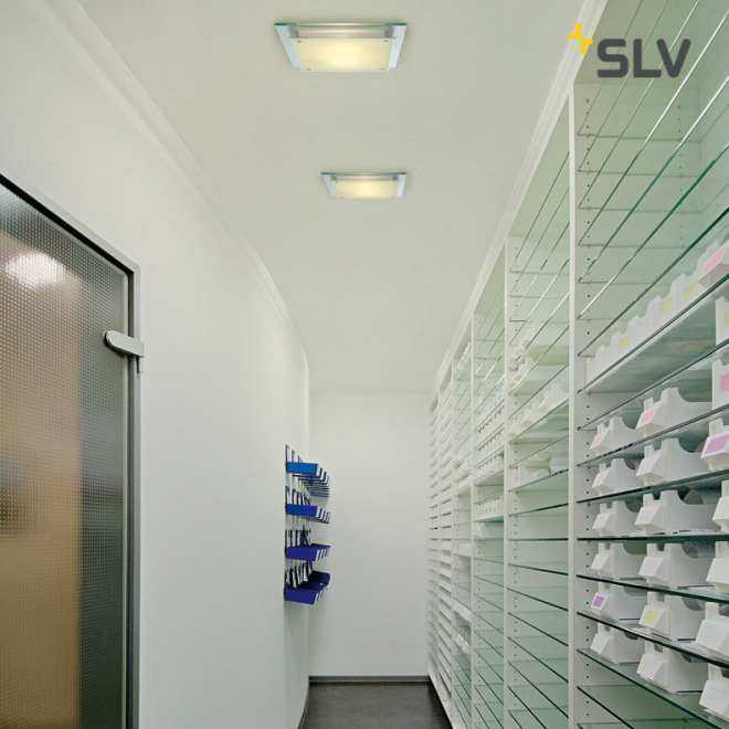 SLV GLASSA SQUARE E27 ceiling light