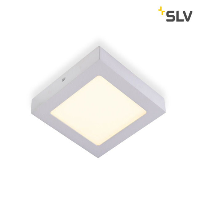 SLV SENSERLED PANEL square silver grey 10W