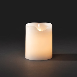 LED Real Wax Candle, Battery Operated, 3 Warm White LEDs