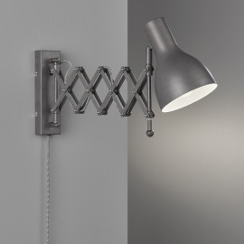Fischer & Honsel Wall Luminaire Pull, single-flame, grey
