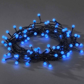 Konstsmide LED Light Chain, blue, 6,3m, 80 round LEDs