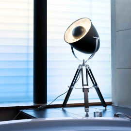 Acamar Tripod Table Lamp, E27, black-silver