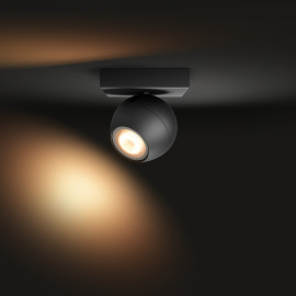 Philips Hue White Ambiance Buckram LED Spotlight black, 350lm, Dimmer Switch