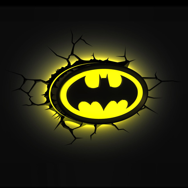 3d wall light batman logo wall lights luminaires the leading 3d wall light batman logo aloadofball Choice Image