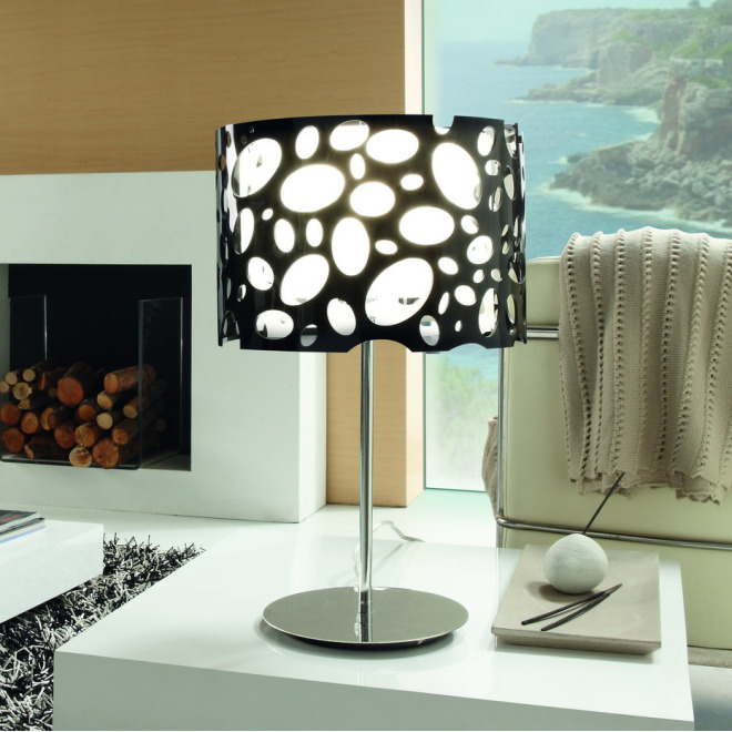 Mantra table lamp MOON WHITE AND BLACK 1L BIG