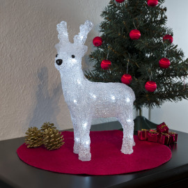 Small LED Acryl reindeer, standing
