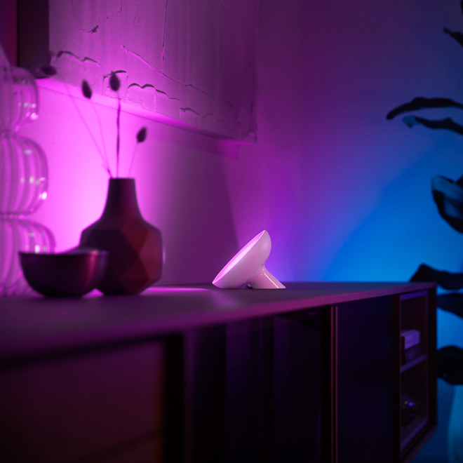 Philips Hue White & Color Ambiance Bloom LED-Tischleuchte weiß, 500lm