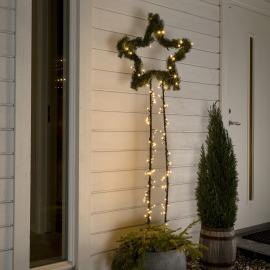 Konstsmide LED Chain of Lights warm white 22m (80 LEDs), Frozen Effect