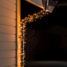Konstsmide LED chain of Lights, amber, 47m, 600 LEDs