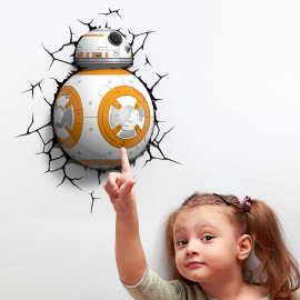 3D Wall light Star Wars BB8