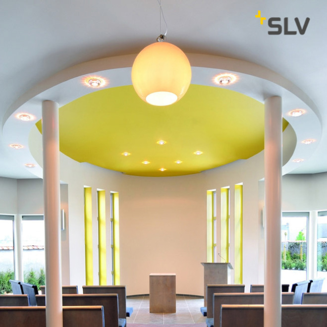 SLV BIG SUN pendant light aluminum/white