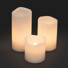 Lotti LED wax candle set of 3