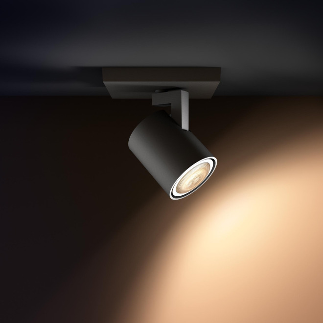 Philips hue runner led 1 spot extension black ceiling lights 44150 aloadofball Image collections
