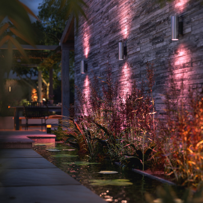 Philips Hue White and Color Ambiance LED-Wandleuchte Appear 1200lm silber