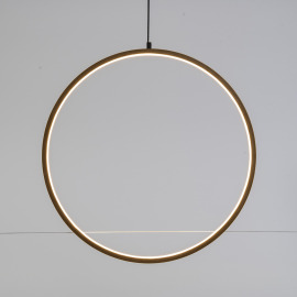 Lotti Cercle LED, Bois, 3000K, 57cm, IP20