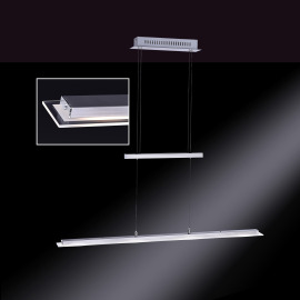 Honsel LED Luminaire Suspendu Tenso quatre flamme chromé-nickel