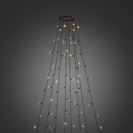 Konstsmide LED Tree Coat amber, 560 LEDs, 8 strings, with multifunction, app-controlled