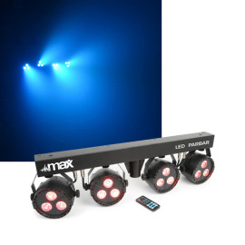Max LED PARBAR 4Way Kit 3x 4in1 RGBW Lichtset