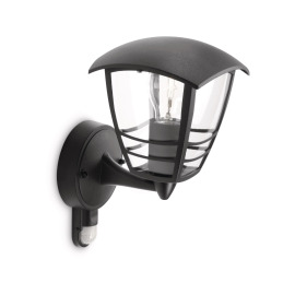 Philips myGarden Wall Light Creek, black, Motion Detector