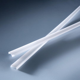 Milk-glas-like standard cover for aluminium profiles 1020mm, diffuse