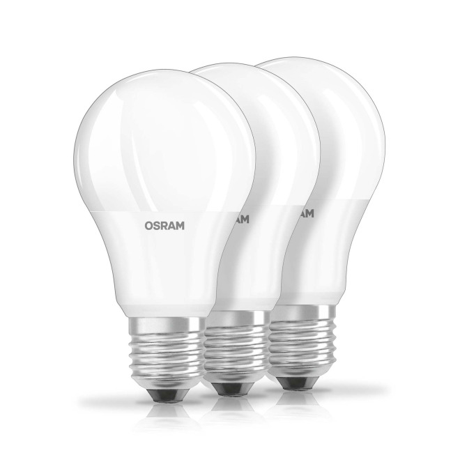 Osram Led Base Cla60 9w 827 Fr E27 Three Pack
