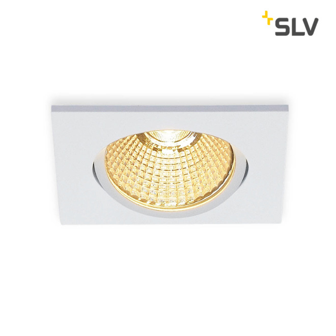 SLV NEW TRIA 68 LED DL SQUARE Set Downlight mattweiß