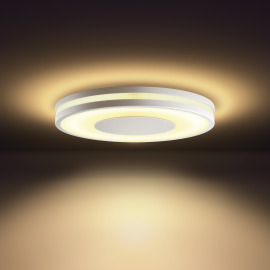 Philips Hue White Ambiance Being LED-Deckenleuchte aluminium weiß, Dimmschalter