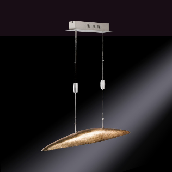 Fischer & Honsel LED-Pendelleuchte Shine 5-flammig gold