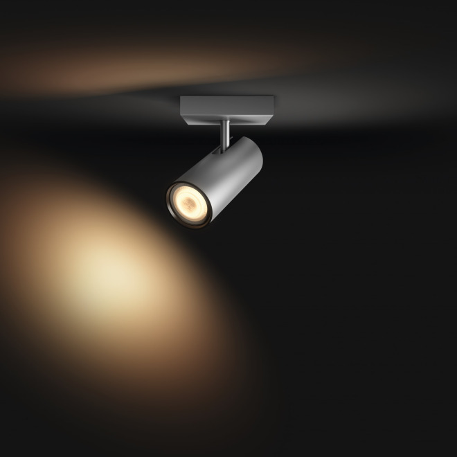 Philips Hue White Ambiance LED-Spot Buratto, Erweiterung, silber, 250lm