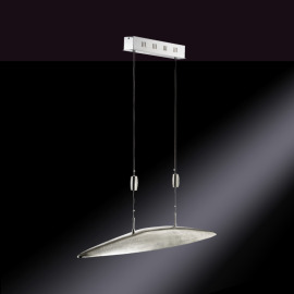 Fischer & Honsel LED Pendant Luminaire Shine Five-flame 5.5W nickel