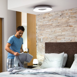 Philips Hue White Ambiance Still LED Ceiling Light black, 2400lm
