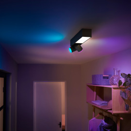 Philips Hue White & Color Ambiance Centris LED Ceiling Light with 2 Spots black, 1540lm
