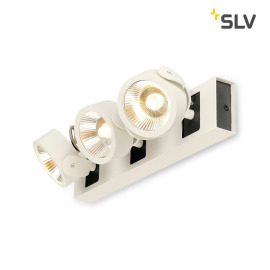 SLV Kalu 60° LED wall light 3-flames white