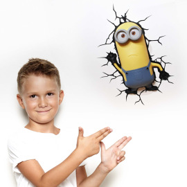 3D Wall light Minions Kevin