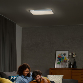 Osram ORBIS Square SPARKLE LED Ceiling Luminaire REMOTE CCT 55W 52x52cm