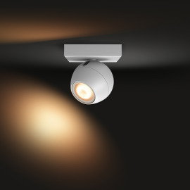 Philips Hue White Ambiance Buckram LED Spotlight white, 350lm, Dimmer Switch