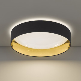 Honsel LED Ceiling Luminaire Sete, black-gold, 60cm