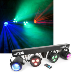 Max Partybar 2PAR 3 x 4-in-1 RGBW+2 Jellyba LED Lichtset