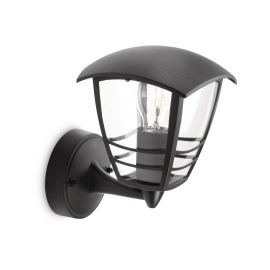 Philips myGarden Wall Light Creek, black, upright