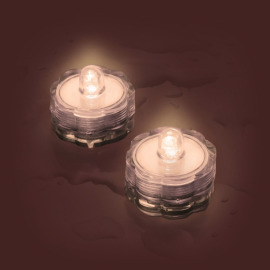 Lotti LED tea light Set of 2, waterproof, warmwhite