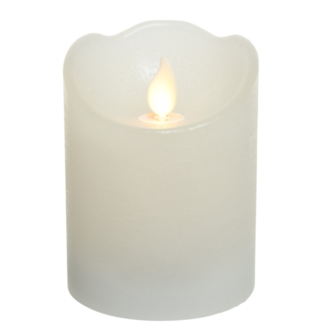Lumineo LED Real Wax Candle Flickering Effect, warm white, 10cm, 6h Timer, Battery Operated