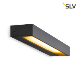 SLV Pema WL, LED outdoor wall light, antracite