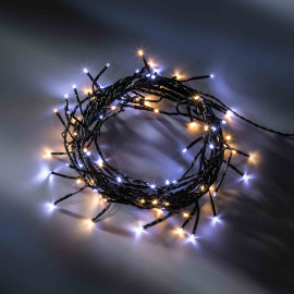 LED fairy light with eight functions memory controller, warmwhite and coldwhite, 13,5 m, 180 LEDs
