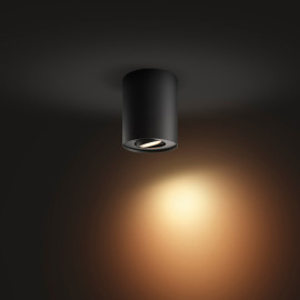 Philips Hue White Ambiance Pillar LED Spot Light black, 350lm
